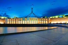 El parlamento y la noche Foto de archivo libre de regalías