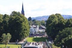 El parque único de la escultura es lifework del ` s de Gustav Vigeland con más de 200 esculturas en el bronce, granito y Imagenes de archivo