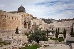 El parque arqueológico de Jerusalén Fotografía de archivo libre de regalías