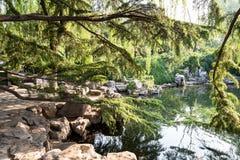 El parque de Baotu Quan en Jinan, China Fotografía de archivo