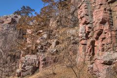 El parque de estado de las palizadas está en Dakota del Sur cerca de la ciudad de buhardillas fotografía de archivo