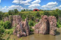El parque de estado de las palizadas está en Dakota del Sur por Garretson imágenes de archivo libres de regalías