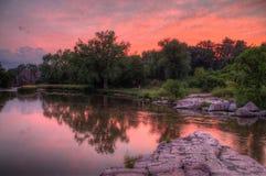 El parque de estado de las palizadas está en Dakota del Sur por Garretson foto de archivo