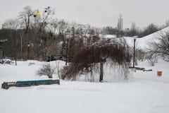 El parque de gloria eterna en Kyiv, Ucrania Imagenes de archivo