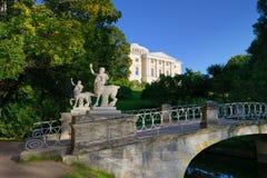 El parque de Pavlovsk del puente Imagen de archivo