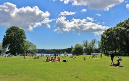 El parque de RÃ¥lambshov Fotografía de archivo
