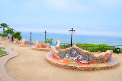 El Parque del Amor, в Miraflores, Лима, Перу Стоковое фото RF