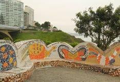 El Parque del Amor или парк влюбленности в Miraflores, Лиме, Перу Стоковая Фотография