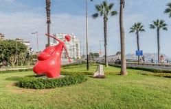 El Parque del Amor, amants se garent, Miraflores, Lima, Pérou Images libres de droits