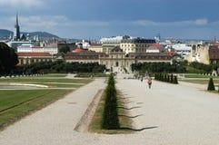 El parque del palacio imperial en Viena - Austria imágenes de archivo libres de regalías