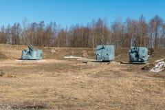 El parque del patriota Artillería de la nave en la exposición imagen de archivo libre de regalías