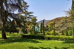 El parque en la costa mediterránea en España Fotos de archivo