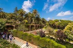 El parque famoso Guell Foto de archivo libre de regalías