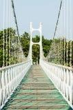 El parque más largo del puente Para una fuente de agua natural Foto de archivo