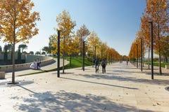 El parque moderno Krasnodar de la ciudad, construido a expensas del hombre de negocios ruso Sergei Galitsky es el mejor lugar par fotos de archivo libres de regalías