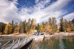 El parque nacional de Banff de la visita de los sikhs Fotos de archivo libres de regalías