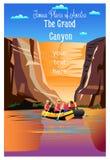 El parque nacional de Grand Canyon ilustración del vector