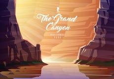 El parque nacional de Grand Canyon Naturaleza de Arizona, los E.E.U.U. El río Colorado ilustración del vector