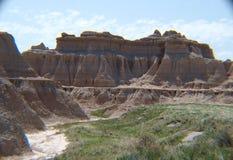 El parque nacional de los Badlands es visualmente imponente imágenes de archivo libres de regalías