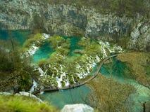 El parque nacional de los lagos Plitvice es uno de los parques nacionales m?s viejos y m?s grandes de Croacia europa fotografía de archivo