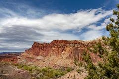 El parque nacional del filón del capitolio está en desierto meridional del ` s de Utah Fotografía de archivo