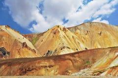 El parque nacional Landmannalaugar Imágenes de archivo libres de regalías