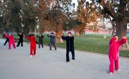 El parque para ejercitar a ancianos chinos Fotos de archivo libres de regalías