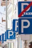 El parquear en ciudad Fotografía de archivo libre de regalías