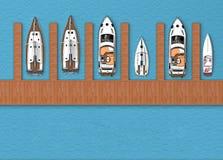 El parquear para la opinión superior de los barcos Imagen de archivo libre de regalías