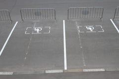 El parquear para las huéspedes discapacitadas Imágenes de archivo libres de regalías