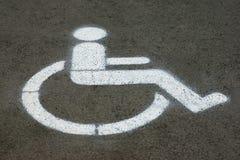 El parquear para las personas discapacitadas Foto de archivo libre de regalías