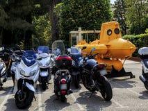 El parquear para los marineros y los motoristas Fotografía de archivo libre de regalías