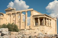 El Parthenon dórico del templo en la colina de la acrópolis foto de archivo