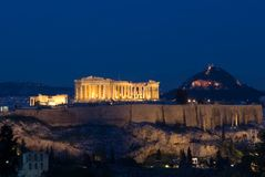 El Parthenon de la acrópolis Fotografía de archivo libre de regalías