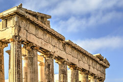 El Parthenon de la acrópolis en Atenas, Grecia Imagen de archivo libre de regalías