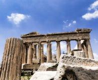El Parthenon en Atenas Fotos de archivo