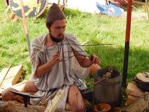 El participante de los tiempos y de las épocas internacionales del festival Roma antigua imagenes de archivo