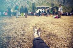 El participar en el festival del verano Imagen de archivo
