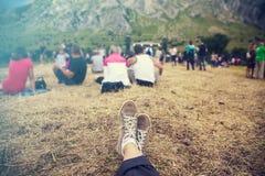 El participar en el festival del verano Fotos de archivo