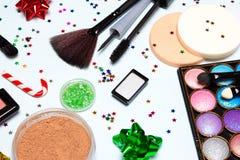 El partido brillante del Año Nuevo que relucir compone los cosméticos fotografía de archivo libre de regalías