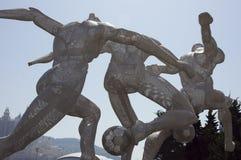 El partido de fútbol Imagen de archivo