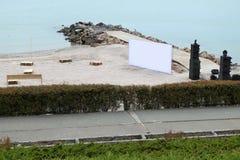 El partido de la playa se está preparando Imagen de archivo