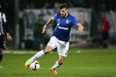El partido de liga del Europa de la UEFA entre el PAOK contra Schalke jugó en Toumb Fotos de archivo