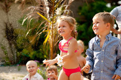 El partido de los niños imagen de archivo libre de regalías