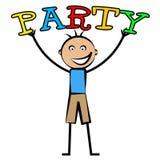 El partido de los niños muestra las celebraciones alegres y a los jóvenes Foto de archivo libre de regalías