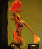 El partido del concierto de la graduación de la clase de baile de la fan Dance-2011 de la nacionalidad de Han Foto de archivo libre de regalías