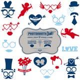 Sistema del partido del día de tarjeta del día de San Valentín Fotos de archivo libres de regalías
