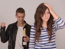 El partido el adolescente del tono se está preocupando Fotografía de archivo libre de regalías