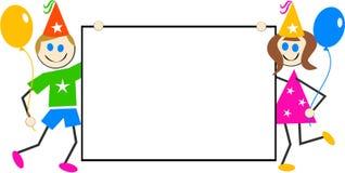 El partido embroma la muestra ilustración del vector