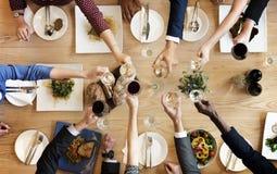 El partido gastrónomo culinario de la cocina del abastecimiento de la comida anima concepto Fotos de archivo libres de regalías
